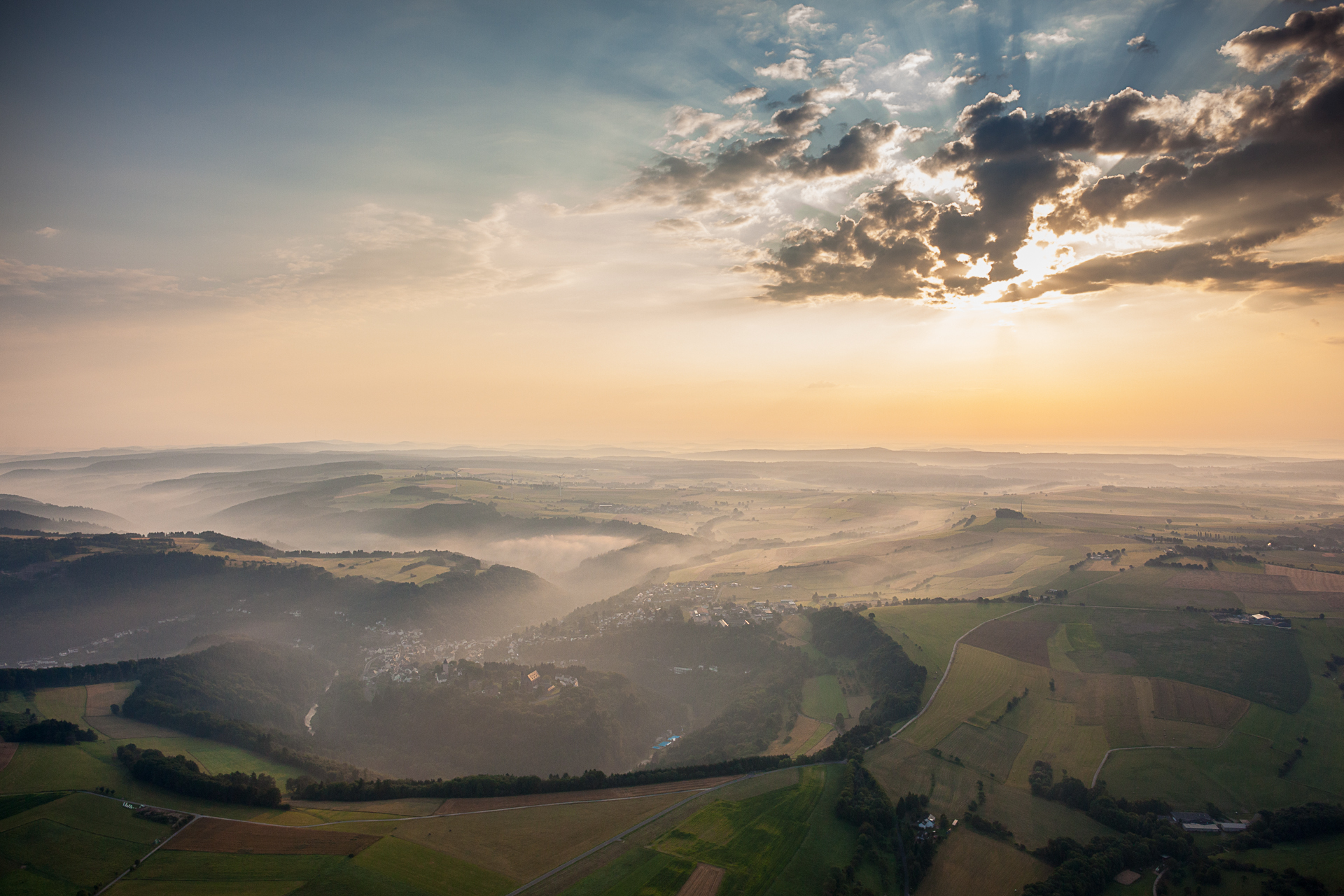 Himmel Eifel Luftbild